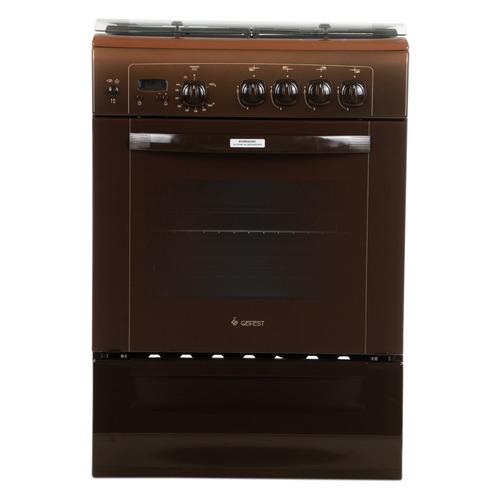 Газовая плита GEFEST 6100-03 0003, газовая духовка, коричневый [пг 6100-03 0003]
