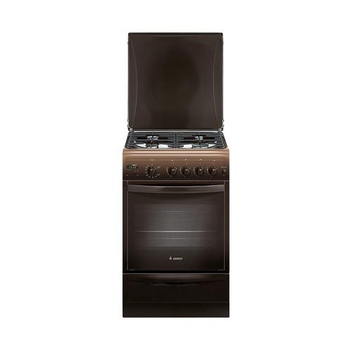 Газовая плита GEFEST ПГ 5100-03 0001, газовая духовка, коричневый газовая плита gefest пг 5100 03 0001 коричневый