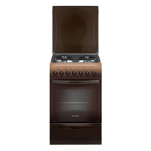 Газовая плита GEFEST ПГЭ 5102-02 0001, электрическая духовка, коричневый