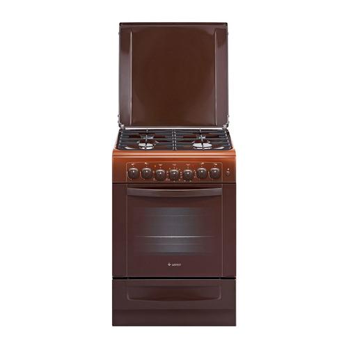 Газовая плита GEFEST ПГЭ 6102-02 0001, электрическая духовка, коричневый газовая плита gefest 6102 02 0001 коричневый