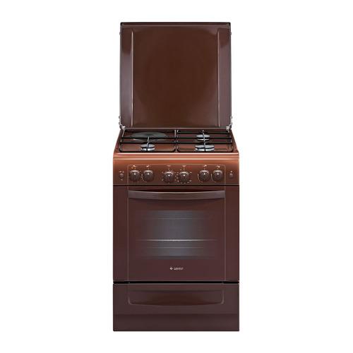 Газовая плита GEFEST ПГЭ 6110-02 0001, газовая духовка, коричневый