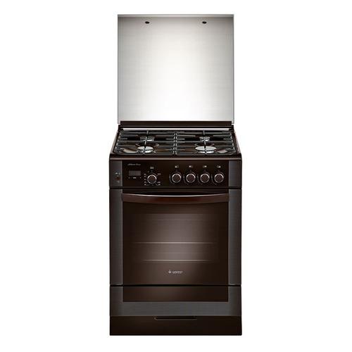 Газовая плита GEFEST ПГ 6300-03 0047, газовая духовка, стеклянная крышка, коричневый