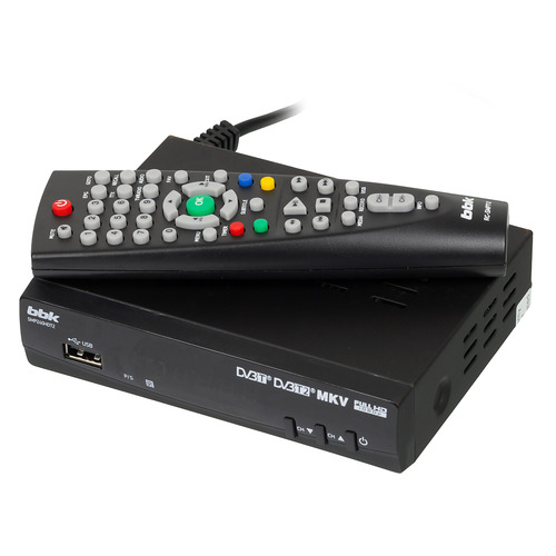 Ресивер DVB-T2 BBK SMP240HDT2, черный [(dvb-t2) dvb-t smp240hdt2 чер] dvb t digital antenna