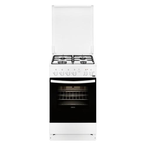 лучшая цена Газовая плита ZANUSSI ZCK9540G1W, электрическая духовка, белый