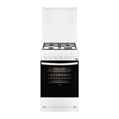 Газовая плита ZANUSSI ZCK9242G1W, электрическая духовка, белый электрическая плита zanussi zcv965201w стеклокерамика белый