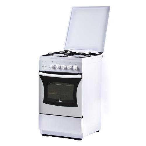 Газовая плита Flama FG 2426 W, газовая духовка, металлическая крышка, белый [fg 2426 w/в]