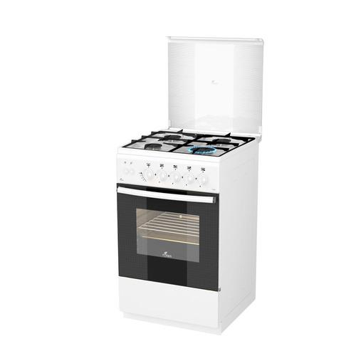 Газовая плита Flama FG 2424 W, газовая духовка, белый