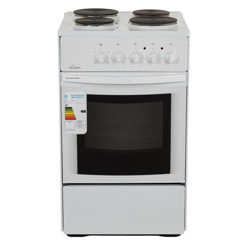 цена на Электрическая плита FLAMA AE 1402 W, эмаль, белый