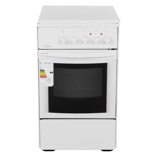 Электрическая плита FLAMA AE 1401 W, эмаль, белый электрическая плита flama ae 1403 w белый