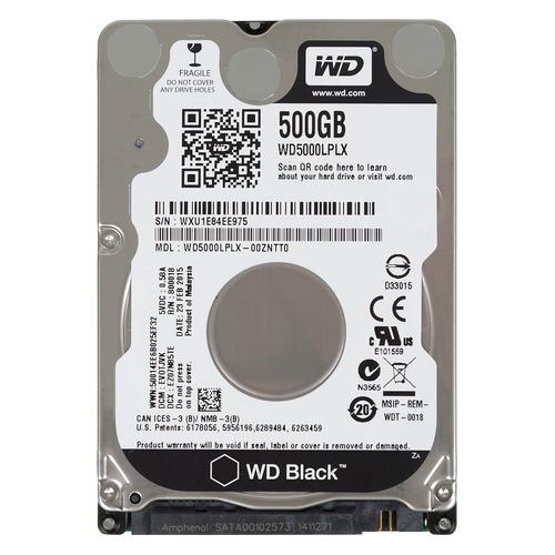 Жесткий диск WD Black WD5000LPLX, 500ГБ, HDD, SATA III, 2.5 жесткий диск hdd 500гб western digital black wd5000lplx