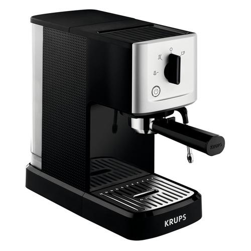 Кофемашина KRUPS XP344010, черный/серебристый [8000035224] кофемашина krups ea894t10 серебристый