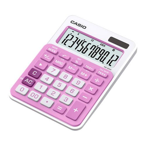 лучшая цена Калькулятор CASIO MS-20NC-PK-S-EC, 12-разрядный, розовый