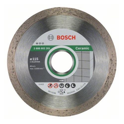 Алмазный диск BOSCH Standard for Ceramic, по керамике, 115мм, 1.6мм, 22.23мм [2608602201]