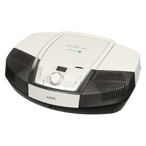 Фото - Аудиомагнитола BBK BX519BT, белый металлик аудиомагнитола supra bb 23mus черный синий 3вт mp3 fm dig usb sd