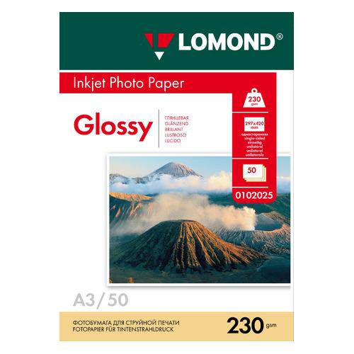 Фотобумага Lomond 0102025 A3/230г/м2/50л./белый глянцевое для струйной печати фотобумага lomond 0102025 a3 230г м2 50л белый глянцевое для струйной печати