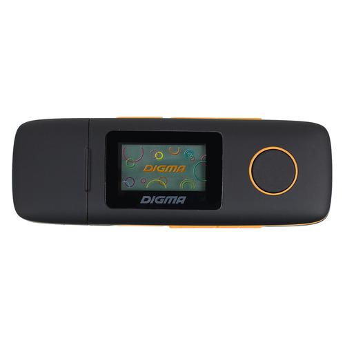 MP3 плеер DIGMA U3 flash 4Гб черный/оранжевый [u3bk] цены онлайн
