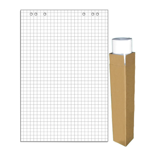 Фото - Блок бумаги для флипчартов 275159 клетка 20лист. (упак.:5шт) кеды мужские vans ua sk8 mid цвет белый va3wm3vp3 размер 9 5 43