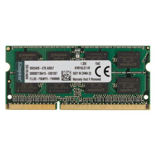 Модуль памяти KINGSTON VALUERAM KVR16LS11/8 DDR3L - 8ГБ 1600, SO-DIMM, Ret