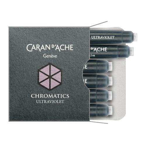 Картридж Carandache Chromatics (8021.099) Ultraviolet чернила для ручек перьевых (6шт) картридж waterman international 52011 s0110940 черный чернила для ручек перьевых 6шт