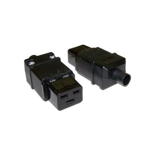 лучшая цена Вилка Lanmaster LAN-IEC-320-C19 IEC 60320 C19 16A 250V black