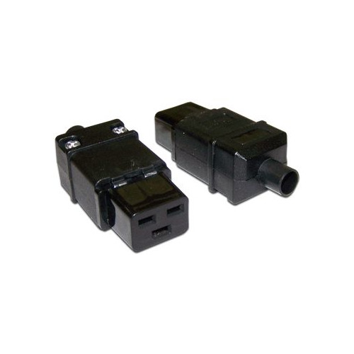 цена на Вилка Lanmaster LAN-IEC-320-C19 IEC 60320 C19 16A 250V black