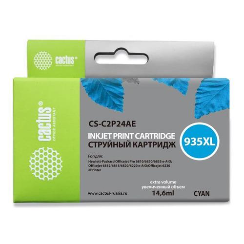 цена на Картридж CACTUS CS-C2P24AE, №935XL, голубой