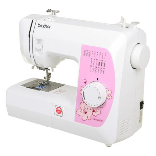 Фото - Швейная машина BROTHER Hanami 17 белый [hanami17] швейная машина brother hanami 17 бело розовый