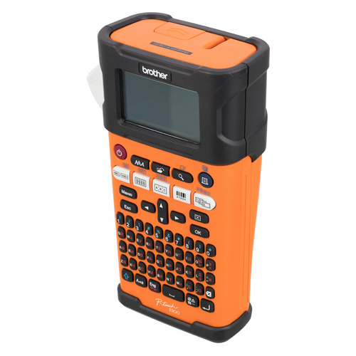 Фото - Термопринтер Brother P-touch PT-E300VP (для печ.накл.) переносной оранжевый/черный лента ламинирования brother tz221 9мм для p touch черный на белом