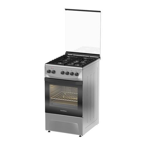 Газовая плита DARINA 1D1 KM 241 311 X, электрическая духовка, нержавеющая сталь газовая плита darina 1d1 км 241 311 w электрическая духовка белый