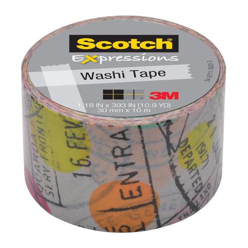Упаковка клейкой ленты 3M Scotch Washi, 30мм, 10м, 7000048132 6 шт./кор.