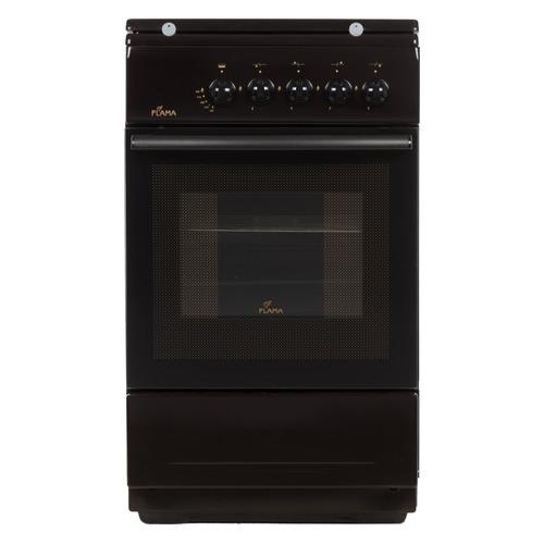 купить Газовая плита FLAMA FG 2402 B, газовая духовка, коричневый недорого