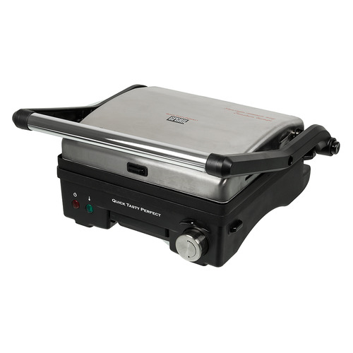 Электрогриль GFGRIL GF-130 Plate Free, серебристый и черный