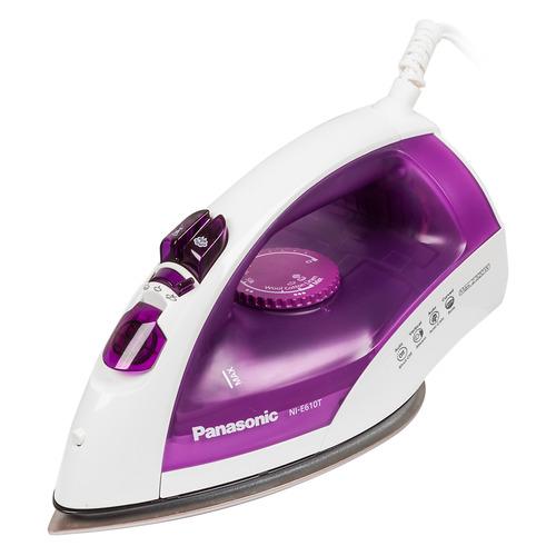 Утюг PANASONIC NI-E610TVTW, 2320Вт, фиолетовый/ белый недорого