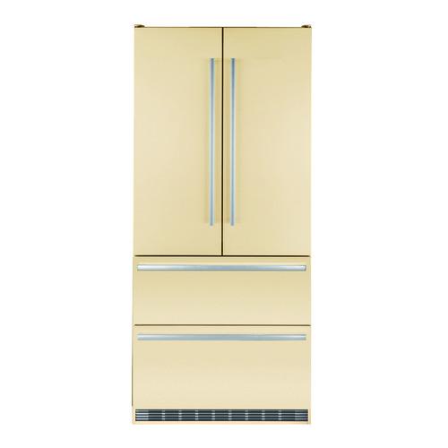 лучшая цена Холодильник LIEBHERR CBNbe 6256, трехкамерный, бежевый