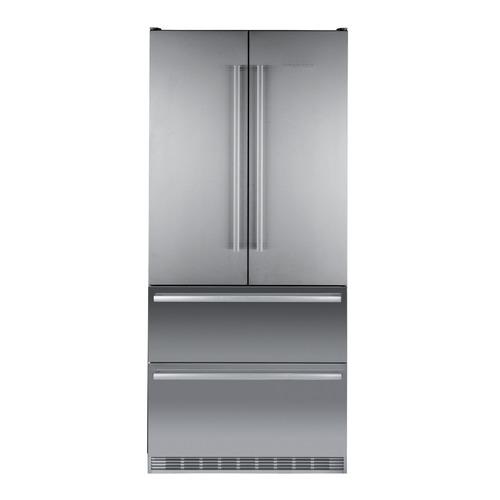 лучшая цена Холодильник LIEBHERR CBNes 6256, трехкамерный, серебристый