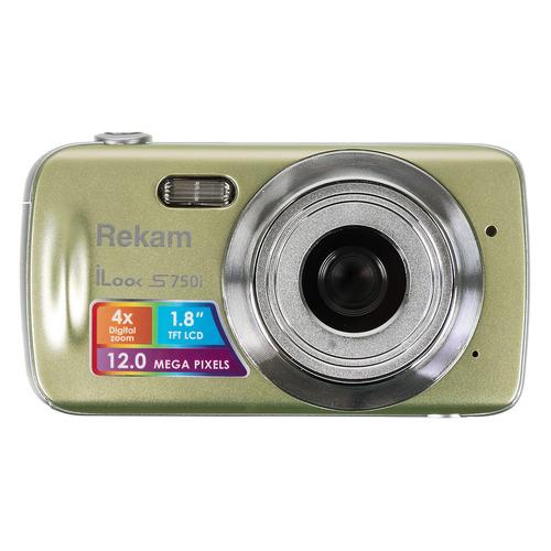 цена на Цифровой фотоаппарат REKAM iLook S750i, золотистый
