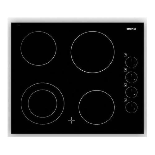 Варочная панель BEKO HIC64101X, Hi-Light, независимая, черный варочная панель beko hiag64223w независимая белый