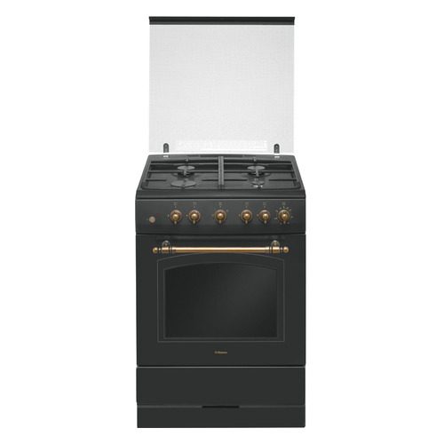 Газовая плита HANSA FCGA62109, газовая духовка, черный
