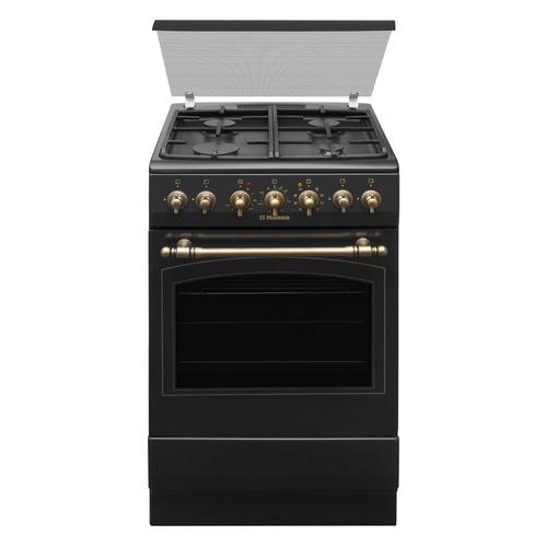Газовая плита HANSA FCMA58109, электрическая духовка, черный