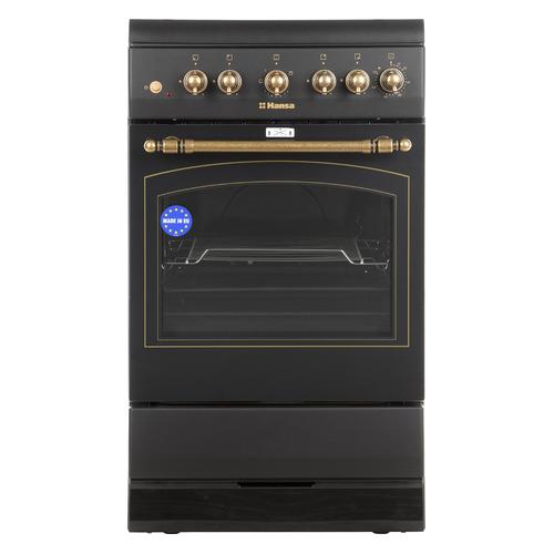 Газовая плита HANSA FCGA52109, газовая духовка, черный
