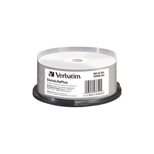 Оптический диск BD-R VERBATIM 50Гб 6x, 25шт., 43750, cake box, printable цена