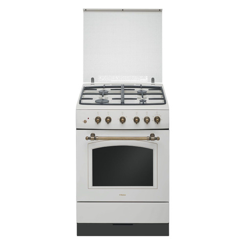 Газовая плита HANSA FCGY62109, газовая духовка, слоновая кость