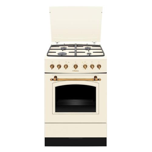 Газовая плита HANSA FCMY68109, электрическая духовка, слоновая кость