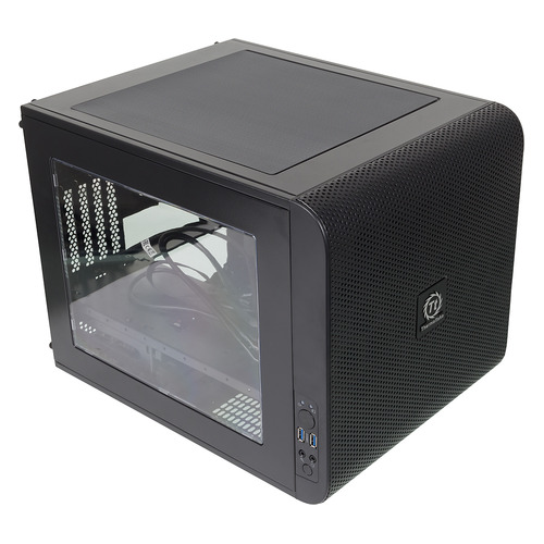 цена на Корпус mATX THERMALTAKE Core V21, Micro-Tower, без БП, черный