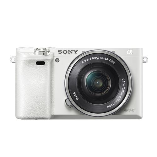 Фото - Фотоаппарат SONY Alpha A6000LW kit ( E PZ 16-50мм f/3.5-5.6 OSS), белый [ilce6000lw.cec] фотоаппарат sony ilca 68k black 24 5mp sdxc wi fi nfc [ilca68k cec] сменная оптика