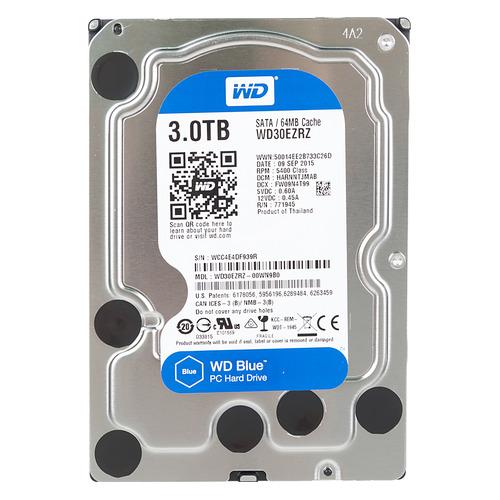 Жесткий диск WD Blue WD30EZRZ, 3ТБ, HDD, SATA III, 3.5 жесткий диск wd blue wd10ezrz 1тб hdd sata iii 3 5