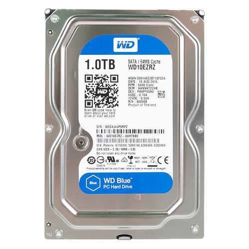 Жесткий диск WD Blue WD10EZRZ, 1Тб, HDD, SATA III, 3.5 жесткий диск wd blue wd10ezrz 1тб hdd sata iii 3 5