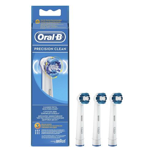 Сменные насадки для электрических зубных щеток ORAL-B Precision Clean 3 шт [81429861] насадки для электрических зубных щеток braun oral b precision clean