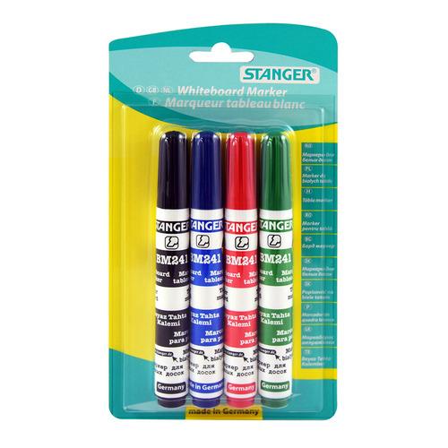 Набор маркеров для досок STANGER BM241, 4 цвет., 1-4 мм, скошенный пишущий наконечник [321003] 12 шт./кор. недорого