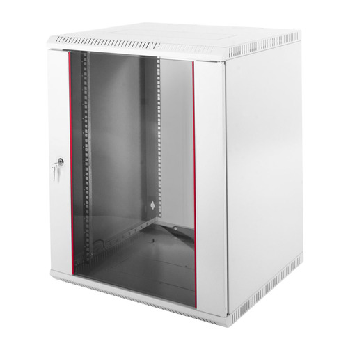 Шкаф коммутационный ЦМО (ШРН-Э-15.650) 15U 600x650мм пер.дв.стекл несъемн.бок.пан. 50кг серый